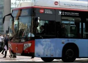 Accidente dentro de un Autobús Urbano de Barcelona