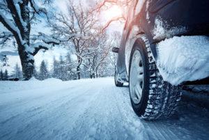 Accidente de tráfico en hielo o nieve